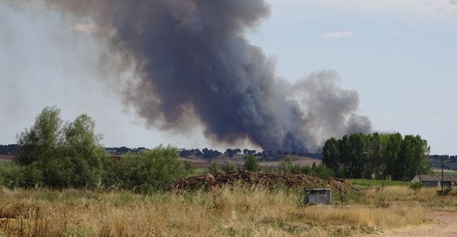 Incendio en Valdelapuerca